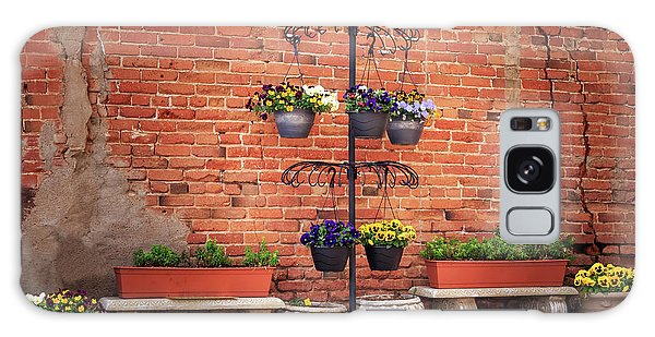 Galaxy Case featuring the photograph Potted Plants And A Brick Wall by James Eddy