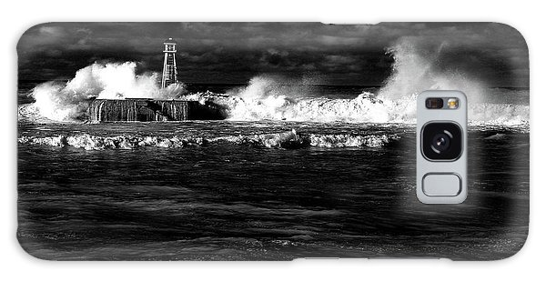 Galaxy Case featuring the photograph Pounding The Breakwater by Nareeta Martin