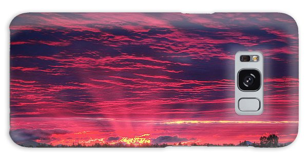 Powell Butte Oregon Sunset Galaxy Case