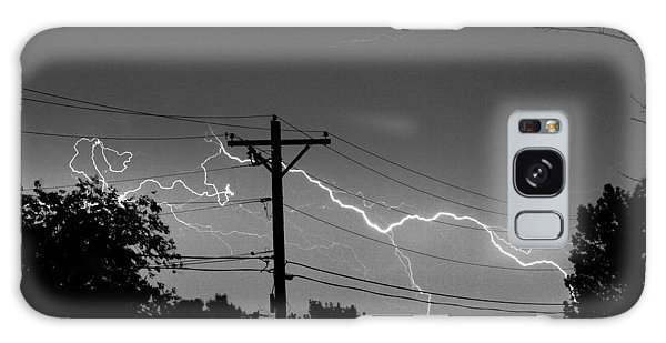 Power Lines Bw Fine Art Photo Print Galaxy Case