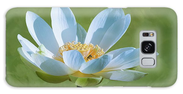 Power Of A Lotus Galaxy Case by Carolyn Dalessandro