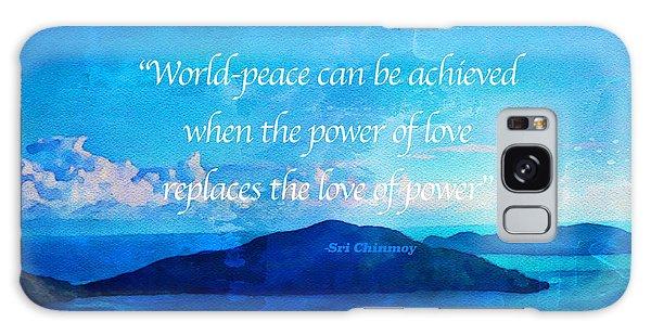 Power Of Love Galaxy Case