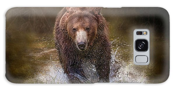 Galaxy Case featuring the digital art Power Of The Grizzly by Nicole Wilde