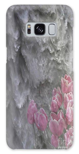 Powerful And Gentle Waterfall Art  Galaxy Case by Valerie Garner