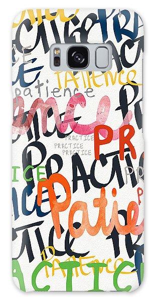 Practice Patience- Art By Linda Woods Galaxy Case