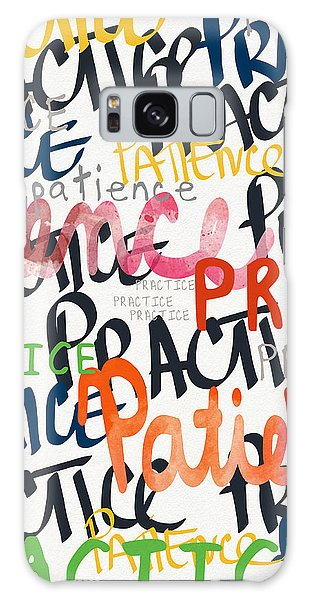Motivational Galaxy Case - Practice Patience- Art By Linda Woods by Linda Woods