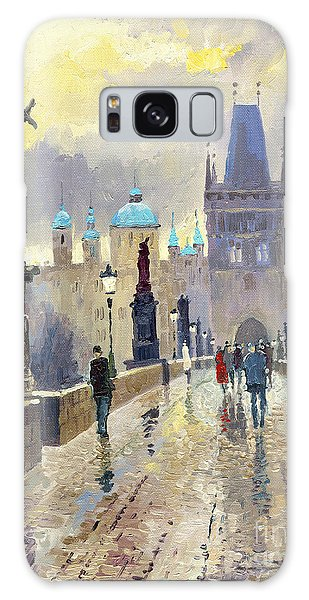 Cityscape Galaxy Case - Prague Charles Bridge 02 by Yuriy Shevchuk