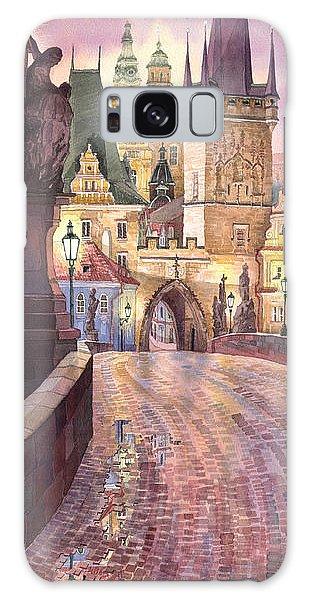 Prague Charles Bridge Night Light 1 Galaxy Case