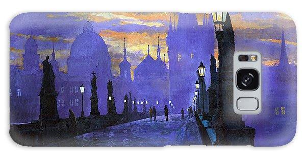Building Galaxy Case - Prague Charles Bridge Sunrise by Yuriy Shevchuk