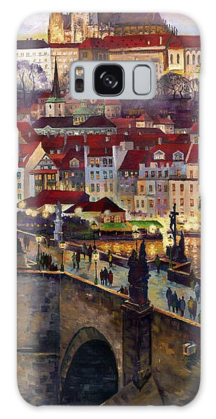 Fantasy Galaxy Case - Prague Charles Bridge With The Prague Castle by Yuriy Shevchuk