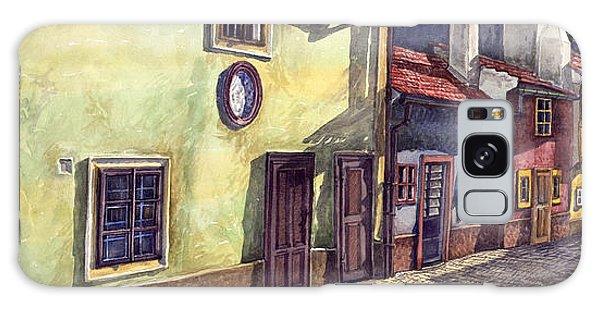 Cityscape Galaxy Case - Prague Golden Line Street by Yuriy Shevchuk