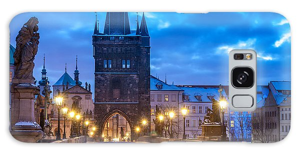 Prague In Blue Galaxy Case