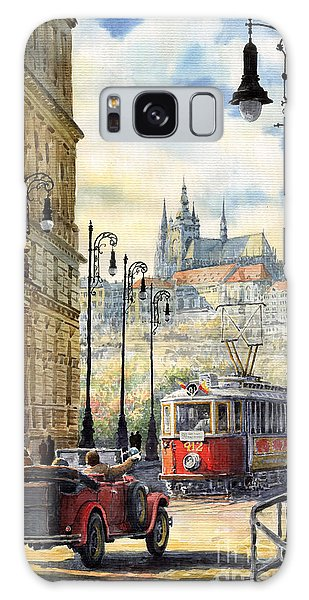 Cityscape Galaxy Case - Prague Kaprova Street by Yuriy Shevchuk