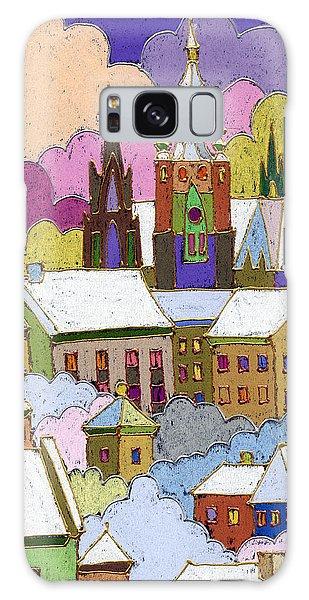 Castle Galaxy Case - Prague Old Roofs Prague Castle Winter by Yuriy Shevchuk