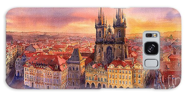 Square Galaxy Case - Prague Old Town Square 02 by Yuriy Shevchuk