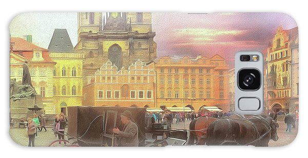 Prague Old Town Square Galaxy Case