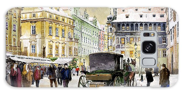 Town Galaxy Case - Prague Old Town Square Winter by Yuriy Shevchuk