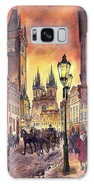 Watercolour Galaxy Case - Prague Old Town Squere by Yuriy Shevchuk