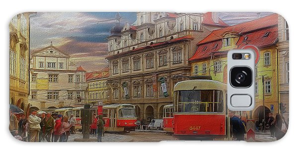 Prague, Old Town, Street Scene Galaxy Case