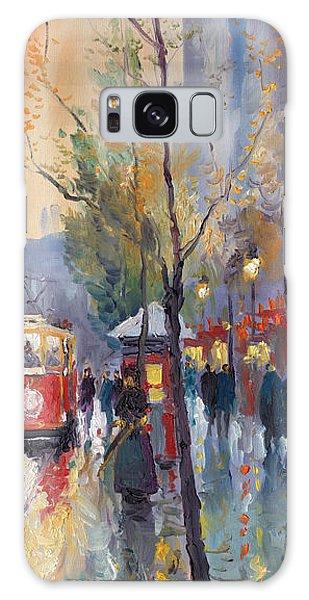 Cityscape Galaxy Case - Prague Old Tram Vaclavske Square by Yuriy Shevchuk