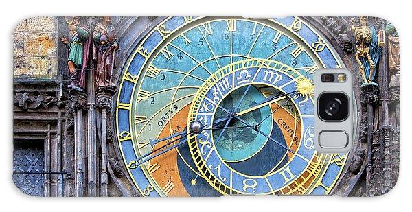 Town Square Galaxy Case - Prague Orloj by Delphimages Photo Creations