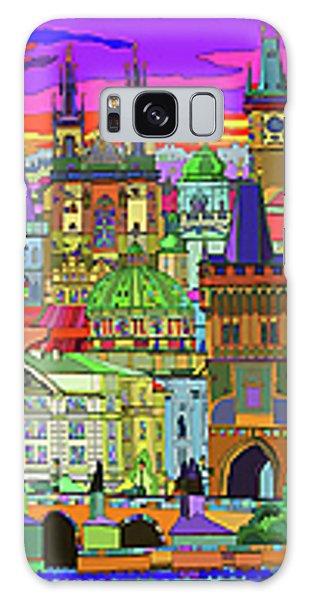 Galaxy Case - Prague Panorama Old Town by Yuriy Shevchuk