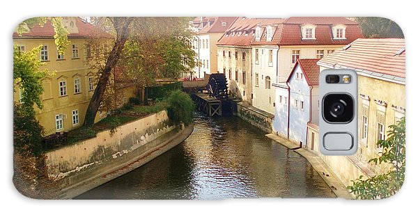 Prague River Scene Galaxy Case