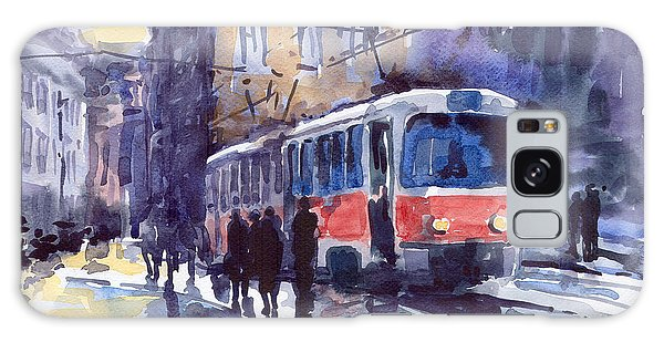 Prague Tram 02 Galaxy Case