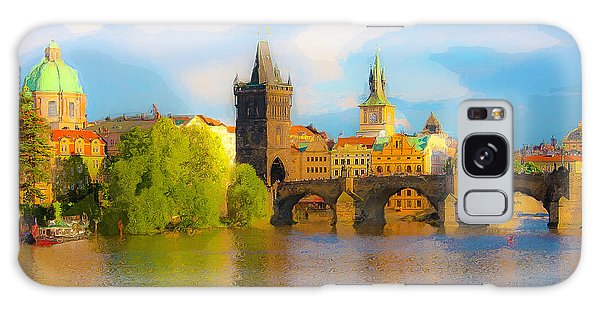 Praha - Prague - Illusions Galaxy Case by Tom Cameron