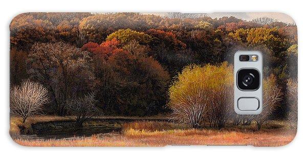 Prairie Autumn Stream Galaxy Case