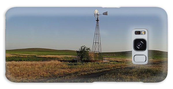 Prairie Windmill At Sunset Galaxy Case