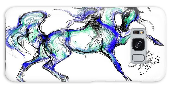 Prancing Arabian Horse Galaxy Case by Stacey Mayer