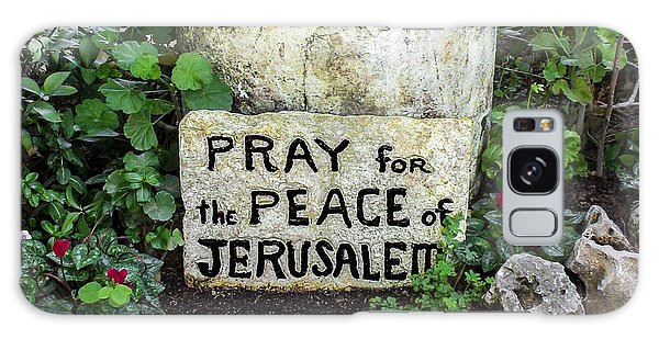 Pray For The Peace Of Jerusalem Galaxy Case