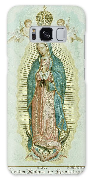 Central America Galaxy Case - Prayer Card Depicting Our Lady Of Guadalupe by French School