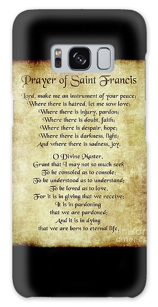 Prayer Of St Francis - Antique Parchment Galaxy Case