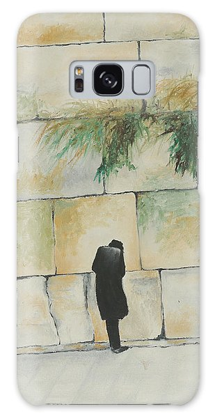 Praying At The Western Wall Galaxy Case by Miriam Leah