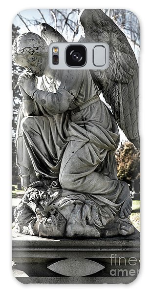 Praying Cemetery Angel  Galaxy Case by Gary Whitton