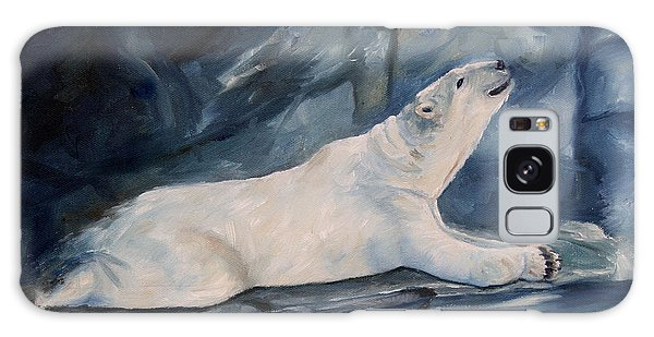 Praying Polar Bear Original Oil Painting Galaxy Case