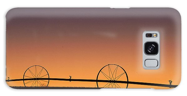 Pre-dawn Orange Sky Galaxy Case by Monte Stevens