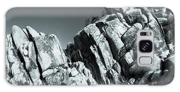 Precious Moment - Juxtaposed Rocks Joshua Tree National Park Galaxy Case