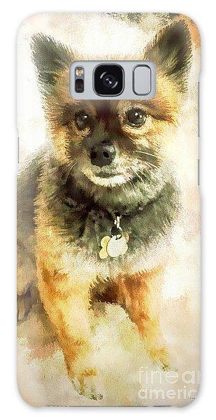 Precious Pomeranian Galaxy Case by Tina LeCour