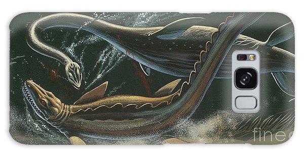 Prehistoric Marine Animals, Underwater View Galaxy Case by American School