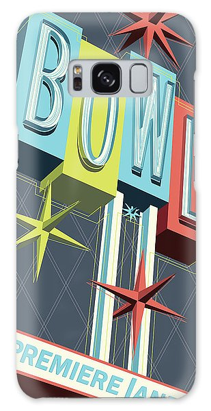Pop Galaxy Case - Premiere Lanes Bowling Pop Art by Jim Zahniser