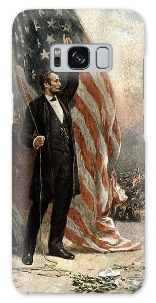 President Abraham Lincoln - American Flag Galaxy Case