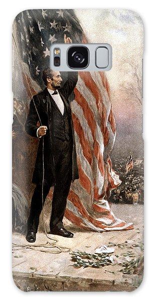 President Abraham Lincoln Giving A Speech Galaxy Case