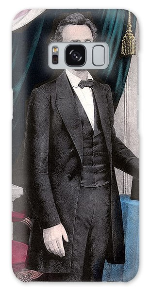 Abraham Lincoln Galaxy Case - President Abraham Lincoln In Color by War Is Hell Store