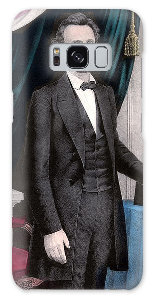 President Abraham Lincoln In Color Galaxy Case