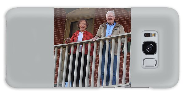President And Mrs Carter On Plains Inn Balcony Galaxy Case