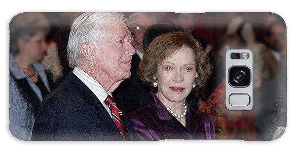 President And Mrs. Jimmy Carter Nobel Celebration Galaxy Case