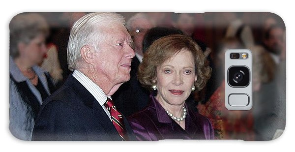 President And Mrs. Jimmy Carter Nobel Celebration Galaxy Case by Jerry Battle
